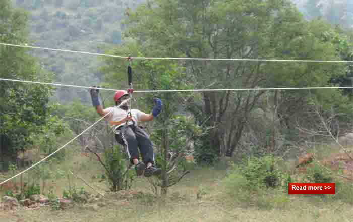 zipline at feverpitch basecamp