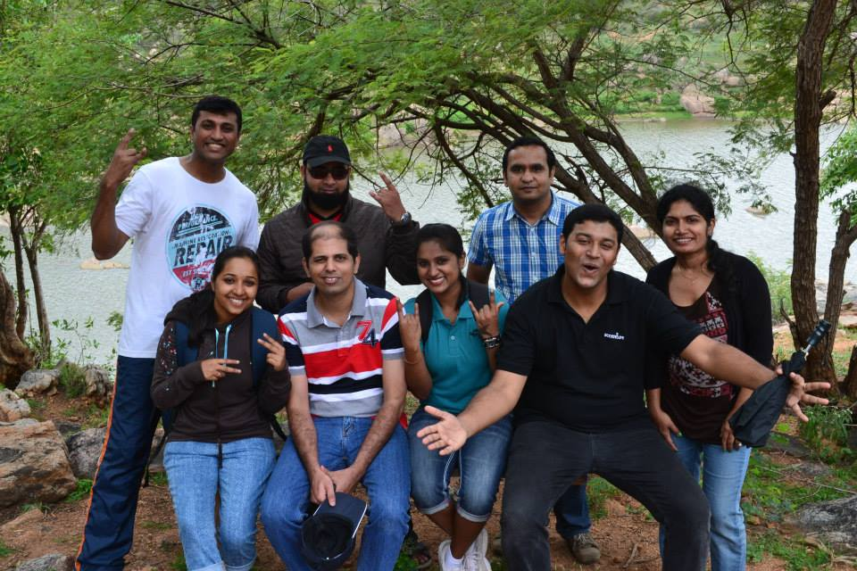 Corporate team outing Bangalore – Nithin and team from Accenture